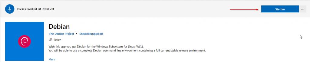 Shopseite Debian for WSL